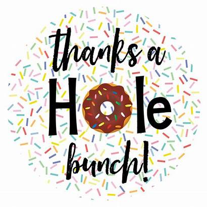 Donut Thank Themed Fun Gift Thanks Gifts