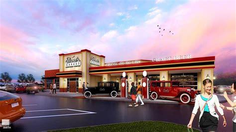 car themed restaurant fords garage cruises  dearborn