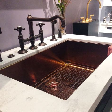 bronze sinks kitchen available now stainless steel sink in a copper finish 1822