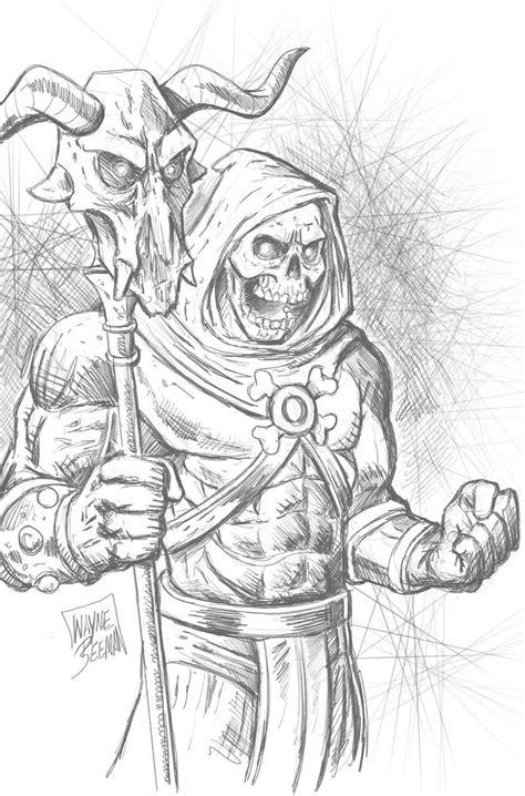 Skeletor (With images) | Fantasy art illustrations, Joker