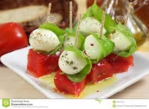 Cheese and Tomato Basil Mozzarella Appetizer