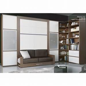 Lit Armoire Escamotable : meuble lit canape escamotable ~ Dode.kayakingforconservation.com Idées de Décoration