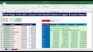 Stock In Out Excel Template Excel Magic Trick 1455 Convert Text Month Criteria To