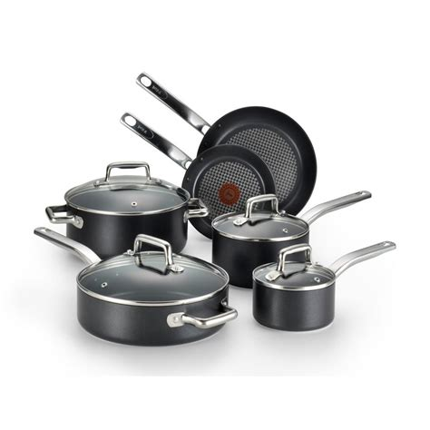 T Fal Toaster by T Fal Prograde 10 Black Non Stick Cookware Set