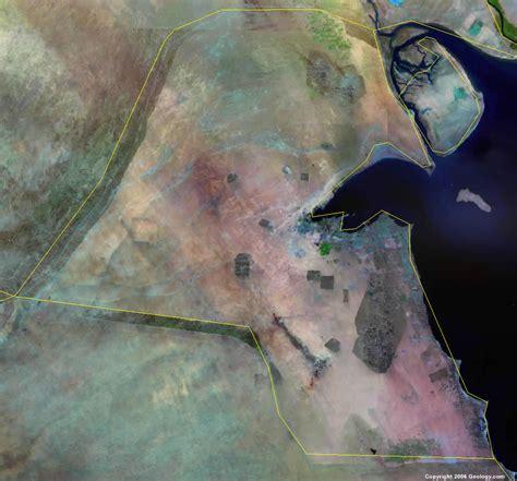 kuwait map  satellite image