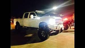 Two Lifted 4x4 Custom Trucks  F250  U0026 Dodge Ram