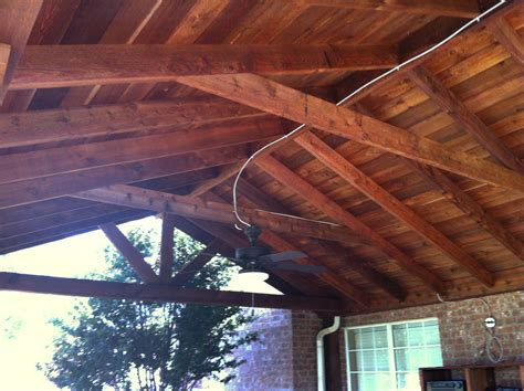 Large Backyard Patio Cover With Ceiling Fans Van Alstyne