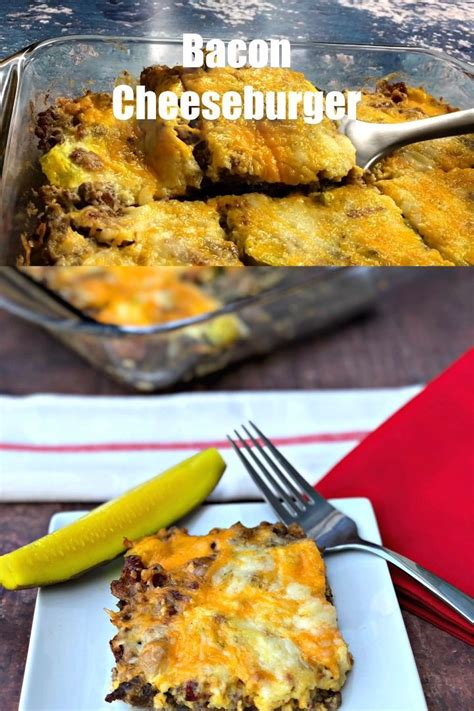 What's not to love about this ground turkey quinoa casserole?! Easy Keto Low-Carb Bacon Cheeseburger Casserole is a ...