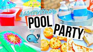 DIY POOL PARTY! Snacks, Decor, & More! - YouTube
