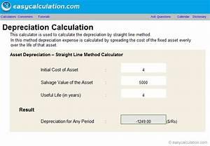 Mortgage Amortization Excel Excel Straight Line Depreciation Calculator Spreadsheet