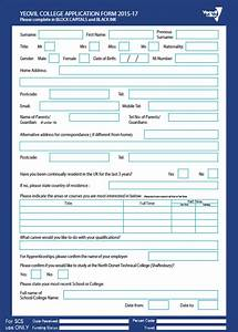 yeovil college application form application form With college application template