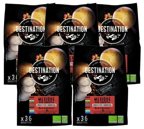 The coffee are grown in the most natural way to to keep the coffee free from chemicals and this in turn benefits us, keeping us from any unnatural additives. Destination 'Mexique' organic coffee pods for Senseo x 180
