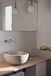 Modernes Badezimmer Galerie : 9 frische ideen f r w nde in betonoptik ~ Markanthonyermac.com Haus und Dekorationen