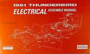 1961 Ford Thunderbird Repair Shop Manual Original