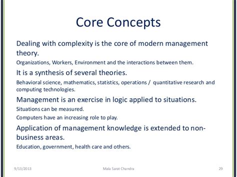 modern concept of management evolution of management theory