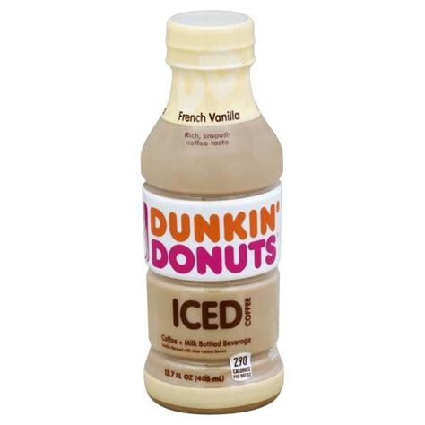 Iced coffee fans can get a new treat within refrigerator aisle of the grocery stores: Dunkin' Donuts French Vanilla Iced Coffee | French vanilla ...