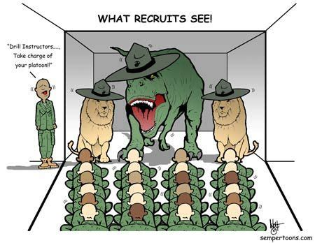 Recruit Vision | Marines funny, Marine corps humor, Army humor