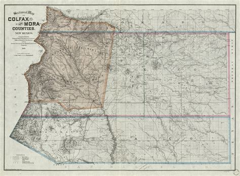 sectional map  colfax  mora counties  mexico