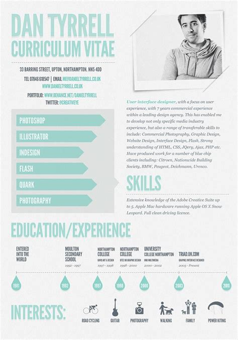 Graphic Design Cv Inspiration by Andrew Hankinson 10pindesign Resumes