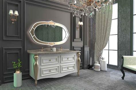 casa padrino luxus barock badezimmer set weiss grau