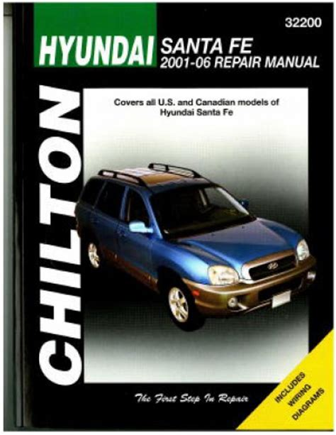 manual repair free 2001 hyundai santa fe electronic valve timing chilton hyundai sante fe 2001 2006 repair manual