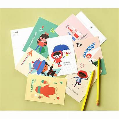Postcard Thank Studio Jam Letters Cards Stationery