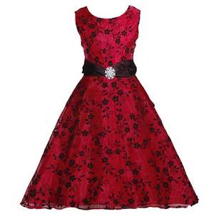 rare editions red black brooch sash christmas dress girl 7 16