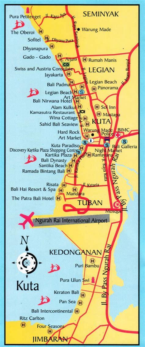 amazing indonesia kuta seminyak legian beach maps