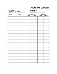 Free Printable Bookkeeping Sheets General Ledger Free