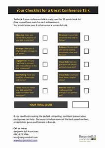 Conference Presentation Checklist