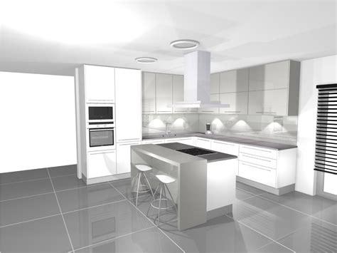 cuisines rustiques alsate cuisine en blanc et gris