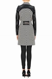 White Dots And Black Leather Coat Stefanie Renoma