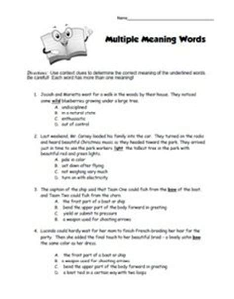 1000 images about multiple meaning on pinterest multiple meaning words language arts and