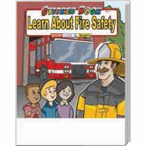 Promotional Learn About Fire Safety Sticker Book - USimprints