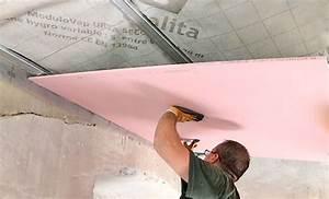 Plaque Isolation Thermique Plafond : doublage thermique poser du placo sur un plafond sous ~ Edinachiropracticcenter.com Idées de Décoration