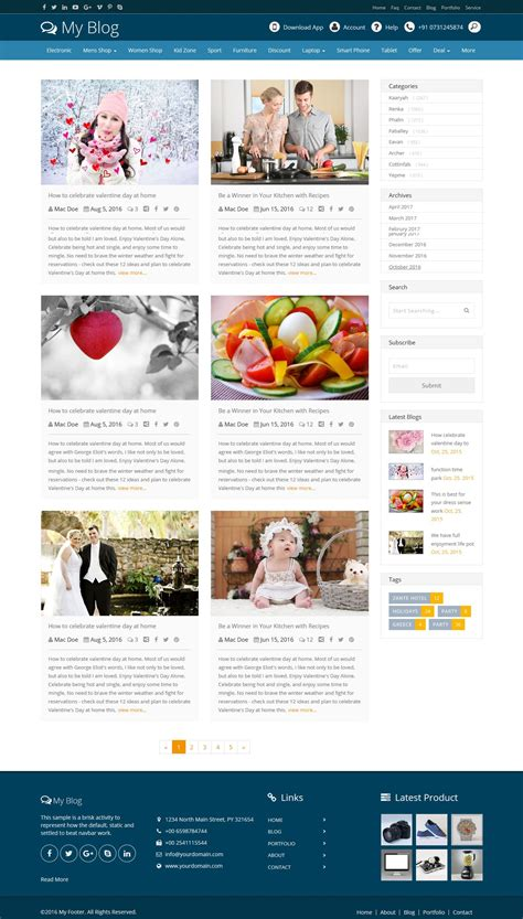 Power - Bootstrap Blog Layout Design by Designcollection ...
