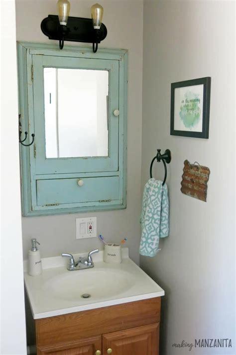 Vintage Bathroom Vanity Cabinet by Add A Vintage Medicine Cabinet For Farmhouse Bathroom Charm