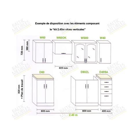 hauteur element cuisine hauteur meuble cuisine cuisine en image