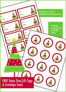 Christmas tree gift tags envelope seals stacey werner for Christmas labels for envelopes