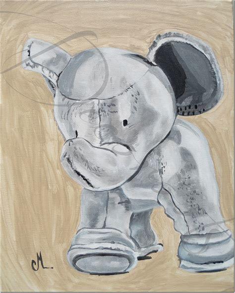 chambre bebe elephant tableau déco jules l 39 éléphant en peluche enfant bébé