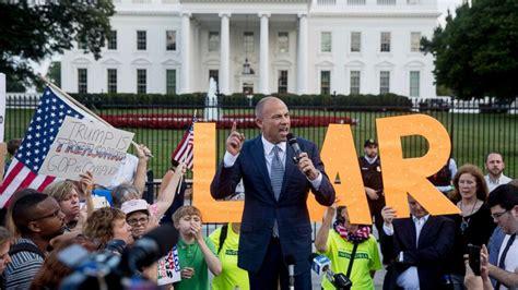 avenatti michael protest milano alyssa whitehouse stormy front