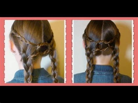 equestrian braids double braid knotted hairstyle youtube