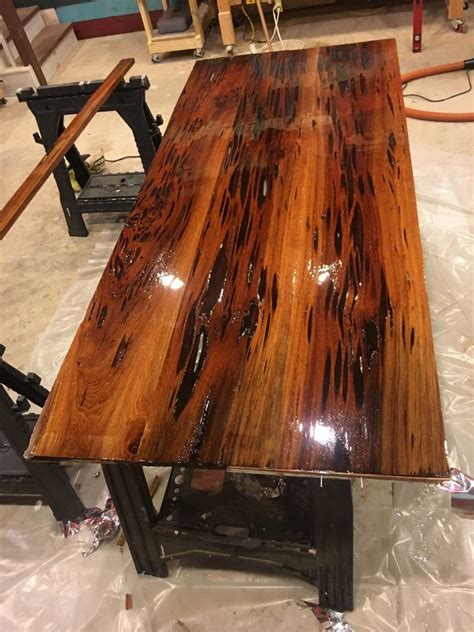 epoxy resin dining table  pecky sinker cypress full