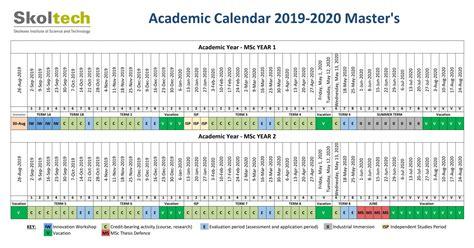 skoltech msc academic calendar
