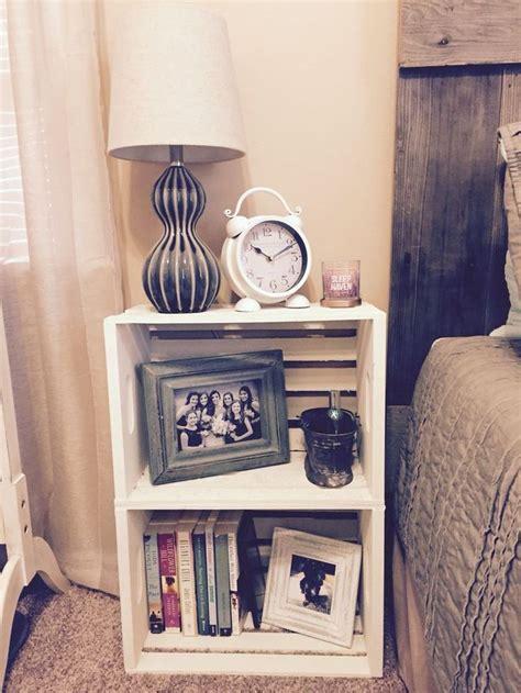 diy bedside pedestals best 25 crate table ideas on pinterest