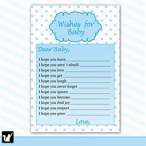 wishes for baby printable template - 6 best images of printable wishes for baby boy printable
