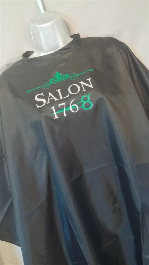 custom hair nail salon logo apron cape vest tshirt