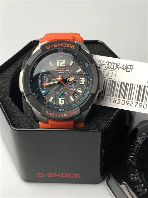 casio g shock master of g gravitydefier orange s alarm chronograph gw 3000m 4aer