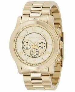 Michael Kors Men's Chronograph Runway Gold-Tone Stainless ...
