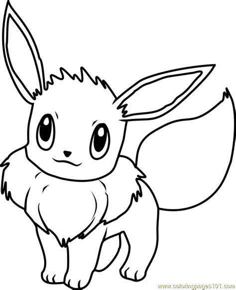 eevee pokemon coloring page  pokemon coloring pages